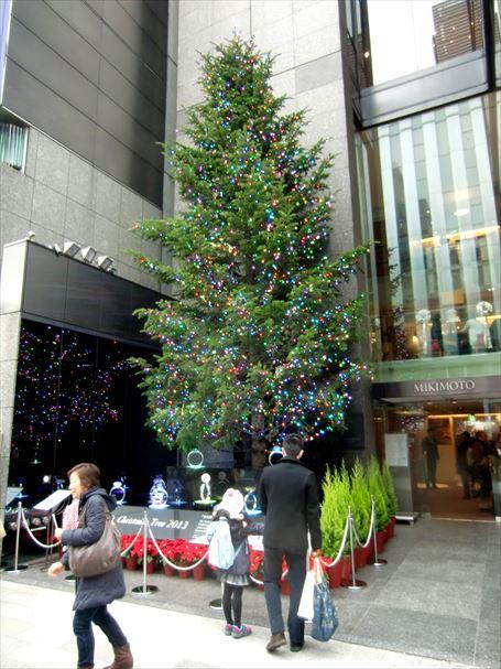 ミキモトパール前のクリスマスツリー