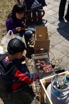 20110417飯山菜の花バーベキュー