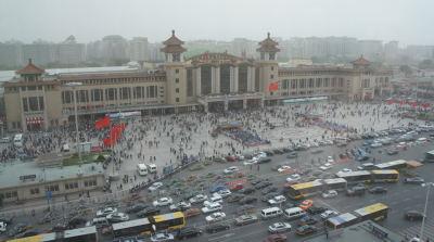 中国北京の連節バス