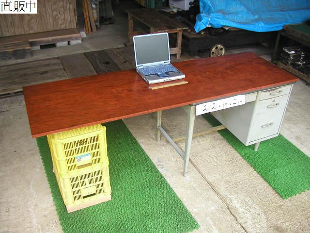 No.10040 テーブルの天板 一枚板(天然銘木) [2] 約212×64×2cm