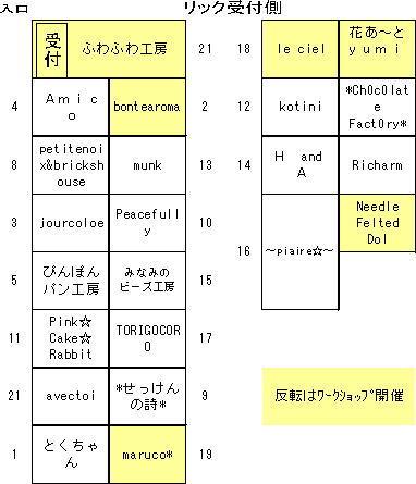 イベント 配置図