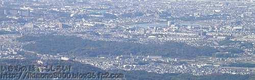 金剛山から見た錦織公園