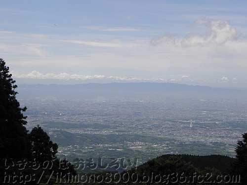 金剛山から見た六甲山