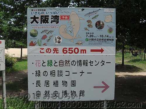 会場650m手前の長居公園にある看板