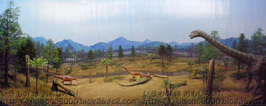 フクイラプトルがいたころの勝山の風景ジオラマ