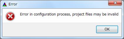 Cmake Error in configuration