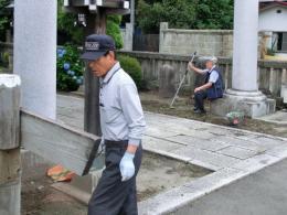 h25大公孫樹の会夏掃除