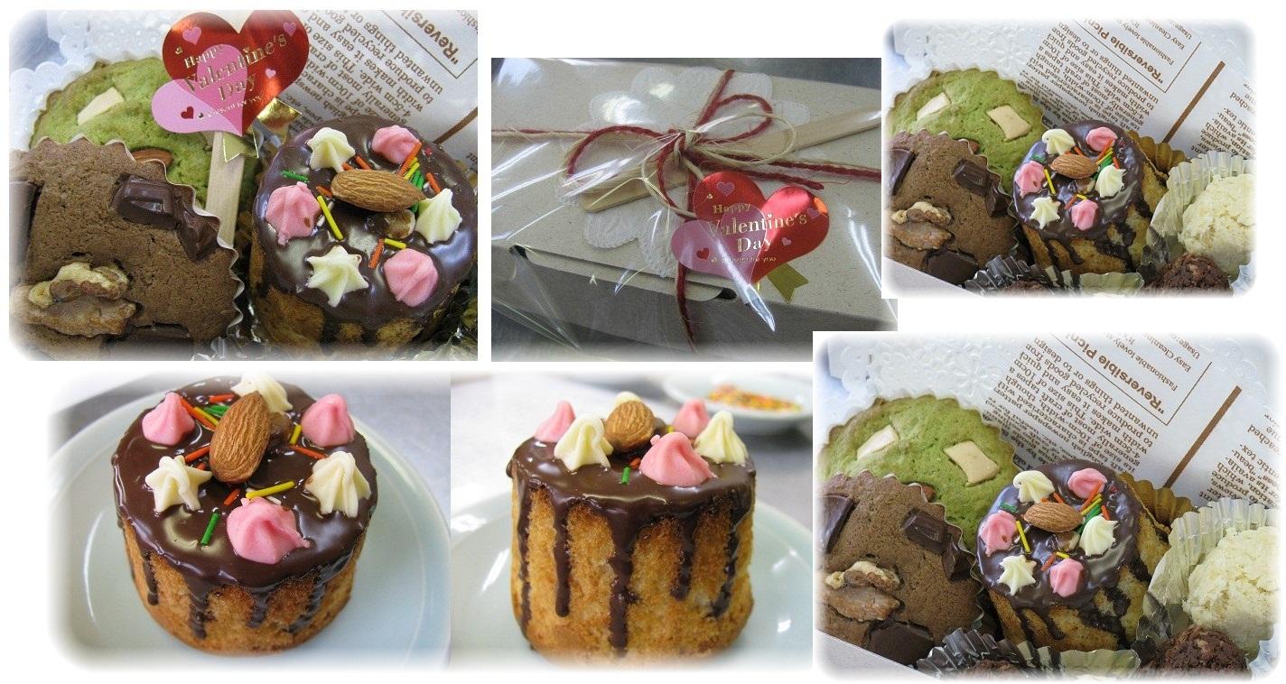 デコマフィン、チョコ&抹茶カップケーキ、しみチョコ