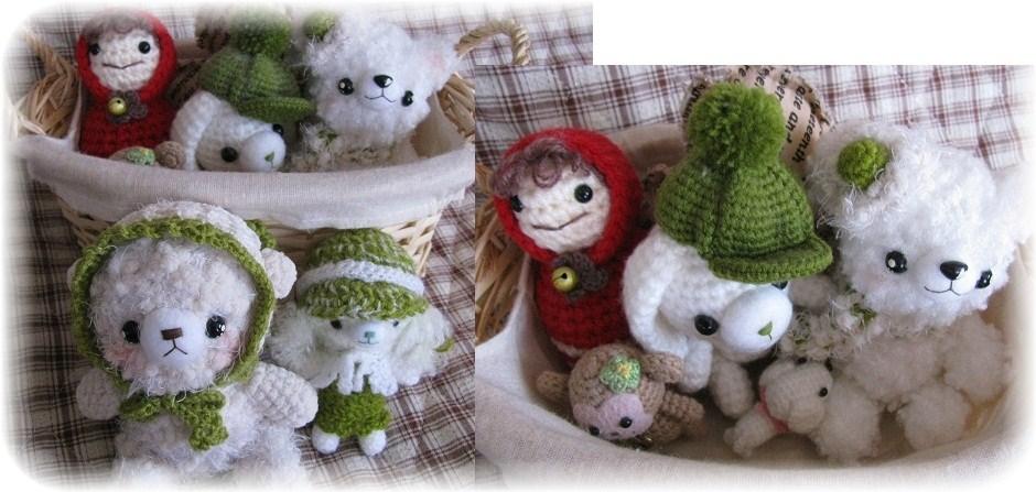 _みえぽんからの編みぐるみ達
