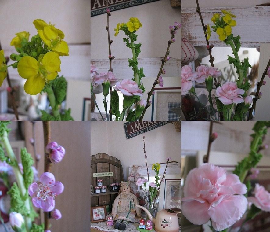桃の花など