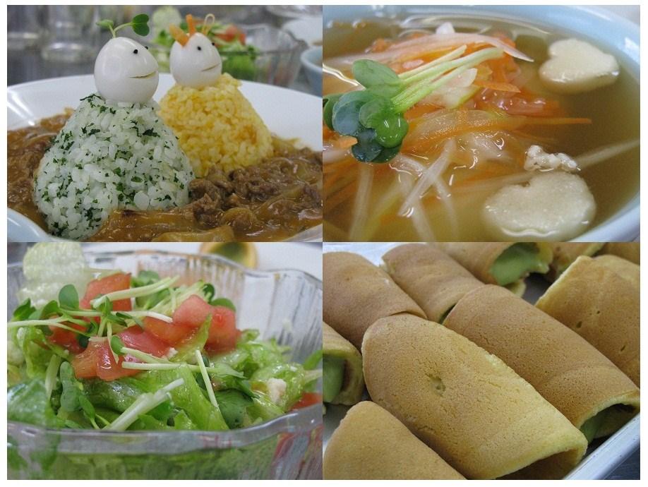 _ビーフストロガノフdeお雛様、生どら焼き2種、もちもち団子スープ、サラダ