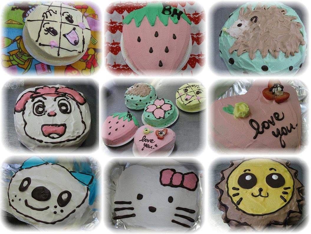 201105料理教室キャラデコケーキetc