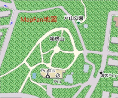 きれぎれの風採 「箱根山表記」8MapFan