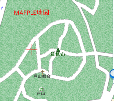 きれぎれの風採 「箱根山表記」9Mapple