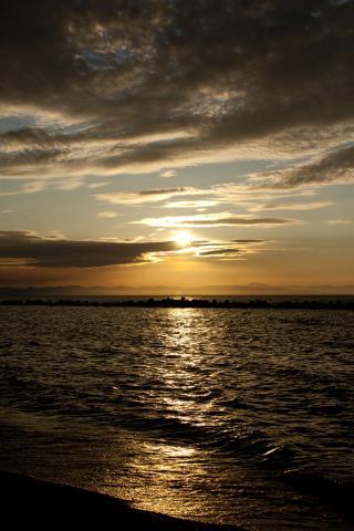 2011 砂浜 夕焼け 10