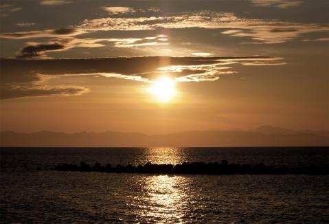 2011 砂浜 夕焼け 8