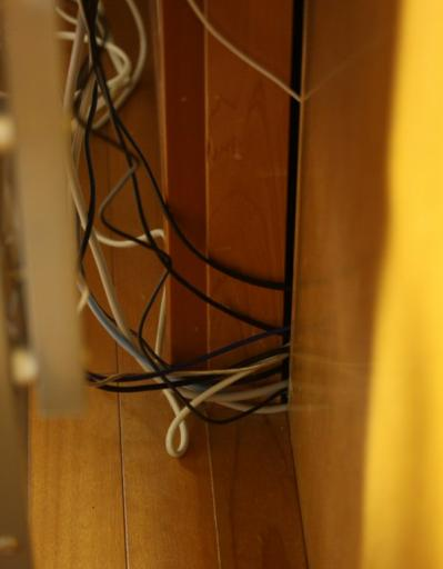 押し入れ PC 配線