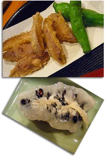 あけび天ぷら