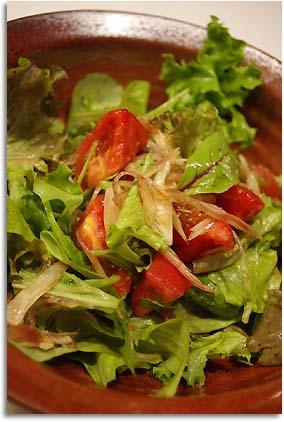 トマトと茗荷のサラダ
