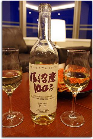 勝沼産白ワイン