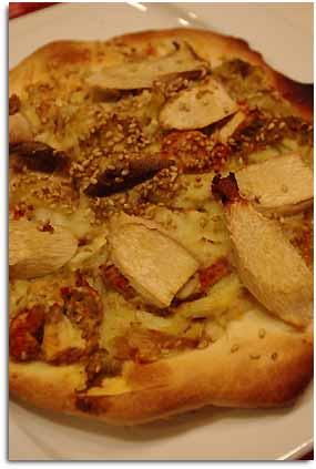 エリンギと蟹のピザ
