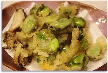 空豆の天ぷら