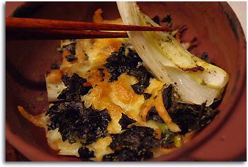 下仁田ネギのチーズ焼