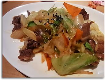 砂肝の野菜炒め