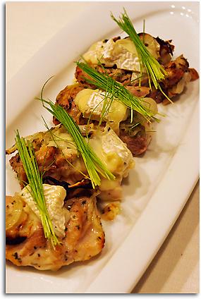 鶏肉のカマンベールグリル焼