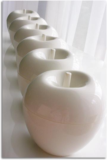 白いリンゴ×6