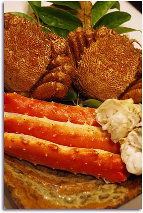函館の蟹。