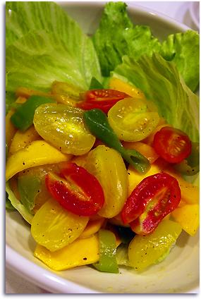 黄色のサラダ