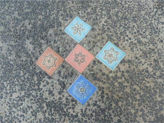 石畳のタイル