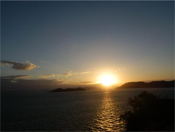瀬戸大橋の日没