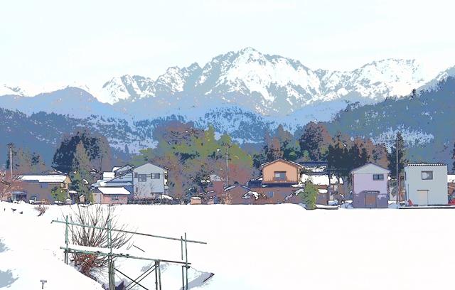 松井先生の冬景色