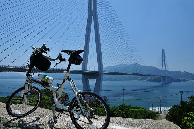 自転車の登り口は専用道がある