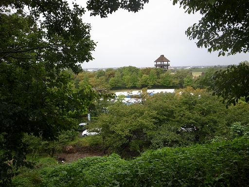 雨の古墳公園