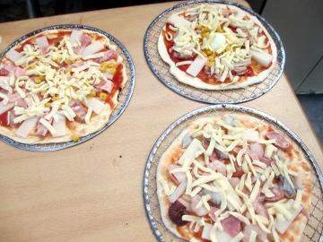 ピザ金網で3