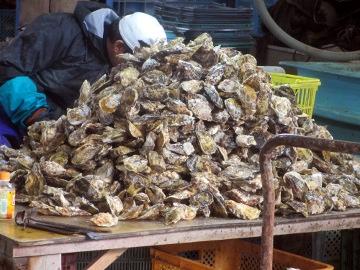 牡蠣山盛り