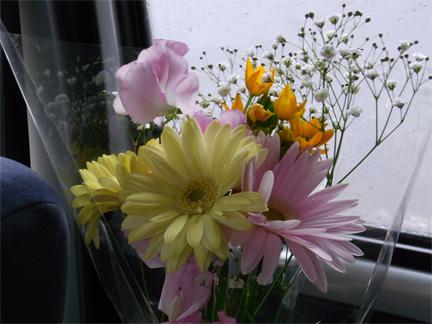 くり子に似合う可愛らしい花をはむままが買ってくれました