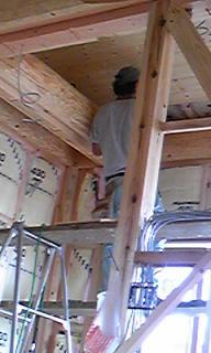 1階天井貼り