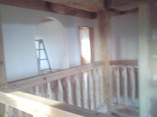 2階壁貼り