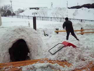 おとうの除雪