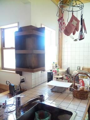 台所棚カントリー風