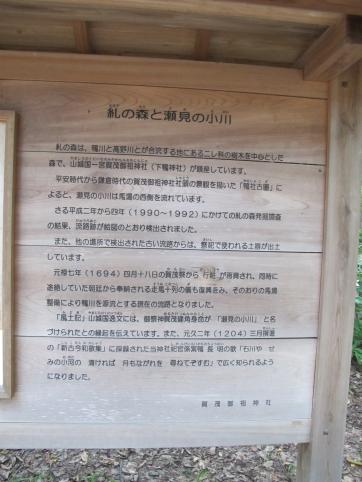 糺の森看板