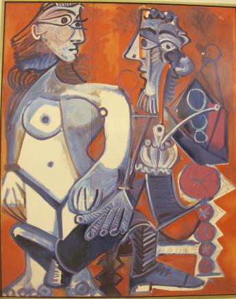 裸婦とパイプの男