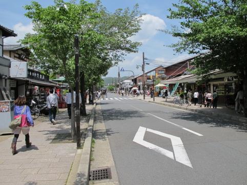 京福嵯峨野付近