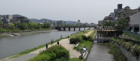 加茂川と納涼床