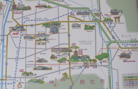総社観光イラストマップ