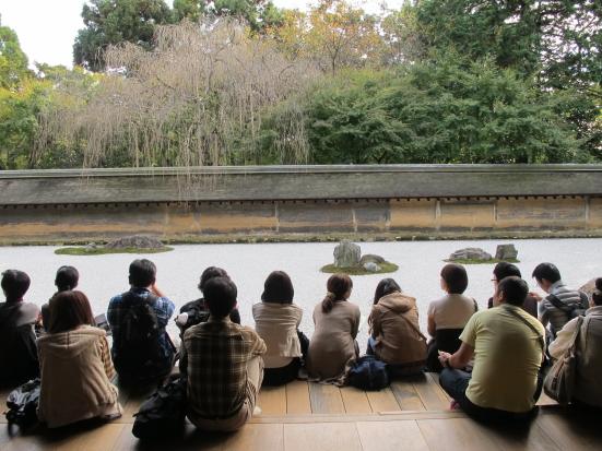 石庭と瞑想